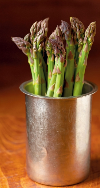 A cup of asparagus