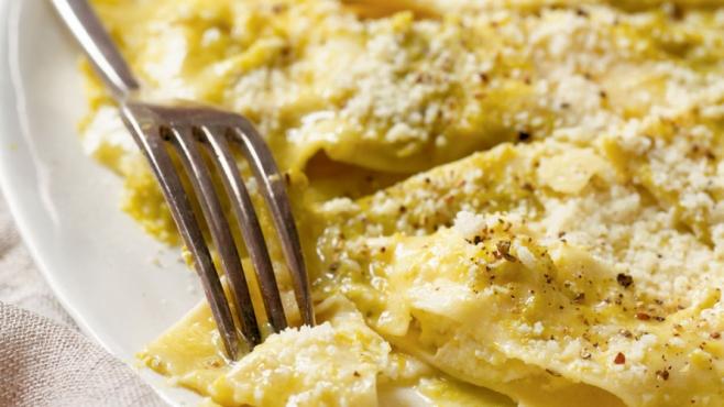 Ravioli with Asparagus Pesto