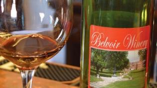 A bottle from Belvoir Winery